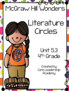 Thinkmark Literature Circle graphic organizer ~ Unit 5.3~There are 4 different levels approaching, on, ell, and advance!  Great for literacy centers! Enjoy!