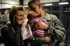 Military men & women and their families. Their strength just amazes me. All the sacrifice that they make for us and their country. True heroes. Makes moments like these especially heart felt.Beautiful. #love