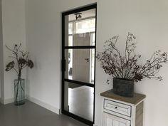 Stalen taatsdeur met 3 vlakken en hoekgreep - Mijn Stalen Deur Decor, Furniture, Oversized Mirror, Home Decor, Mirror