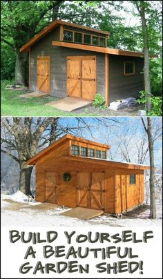 We found the ultimate garden shed! Lots of storage space, great natural light, big doors... Is this the perfect shed for your backyard?