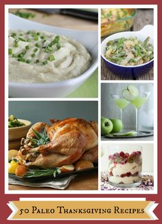 50 Thanksgiving Dishes...all in one place (Paleo Friendly, Too!!!)