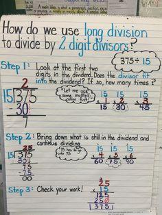 Division using 2 digit divisors