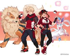 Hero Academia Characters, My Hero Academia Manga, Buko No Hero Academia, Fictional Characters, Pokemon Crossover, Anime Crossover, Pokemon Comics, Pokemon Go, Bakugou And Uraraka
