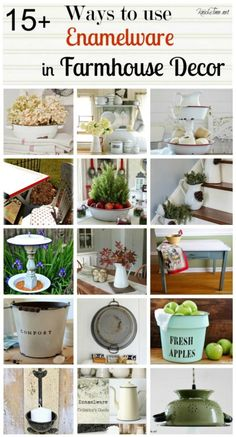 DIY 15+ Ways To Use Enamelware in Farmhouse Decor !