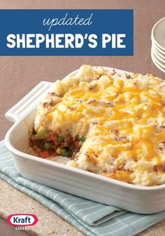 Updated Shepherd's Pie — This great-tasting, low-calorie version of a traditional shepherd's pie recipe is made with better-for-you ingredients.