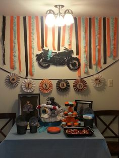 Motorcycle baby shower