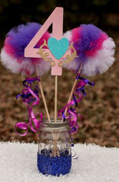 My Little Pony Party Princess Cadance Birthday Party Centerpiece Table Decoration