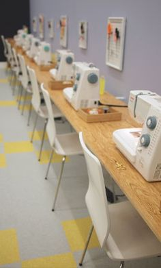 The future Craftateria...Fancy Tiger Classes Sewing Quilting Embroidery