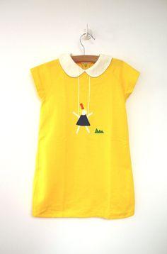 sunshine yellow dress c.1960's