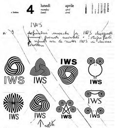 Franco Grignani – Sketches for Woolmark logo