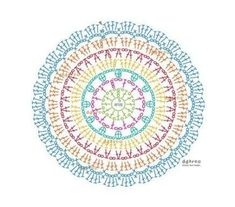 Mandala a crochet Crochet Carpet, Crochet Wool, Chunky Crochet, Crochet Round, Filet Crochet, Diy Crochet, Motif Mandala Crochet, Crochet Throw Pattern, Crochet Diagram