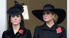 Ein seltener Anblick zu einem traurigen Anlass: Herzogin Catherine und Königin Máxima gedenken gemeinsam den zahlreichen Weltkriegs-Opfern.