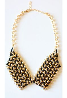 Threaded Chain Collar Necklace