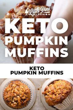 *NEW* These spiced, aromatic keto pumpkin muffins are petite, portable, and absolutely perfect as a snack or on-the-go breakfast. #ketopumpkinmuffins #lowcarbpumpkinmuffins #ketobreakfast #lowcarbbreakfast Low Carb Desserts, Low Carb Recipes, Real Food Recipes, Cooking Recipes, Diabetic Recipes, Low Carb Recipe Books, Lowest Carb Bread Recipe, Low Carb Lunch, Low Carb Breakfast