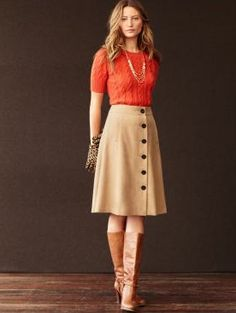 pretty skirt with boots