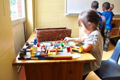 """Classroom Materials: What are some of your """"staple"""" materials? Lego has become one of ours! It is open ended and provides oppourtunities to build on fine motor skills, spatial awareness, social skills and creativity."""