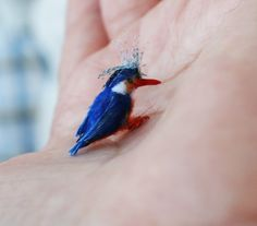 Miniature Malachite Kingfisher OOAK  112 by FairiesMiniatures, $22.00