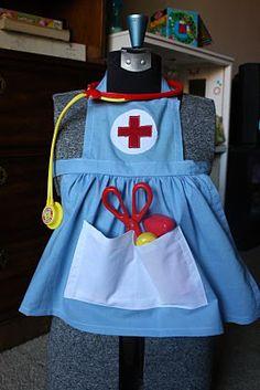 The Crafty Cupboard: Slim Stash: The Resident RN- Old School Stylenurse apron