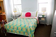 great balance of bright/white for a girl bedroom via 71 toes -- painted the walls --- lovely color  http://www.71toes.com/