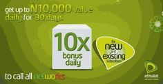 Get 10 times the Value of your Recharge from Etisalat Super Bonus Offer