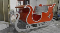 Brief: The brief was to create a life-size sleigh for Santa to use whilst many children came to visit him at the Winter wonderland during Christmas. The Sleigh had to be durable, to stand and to si...