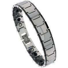 Tungsten Carbide Magnetic Therapy Bracelet