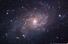 Astrophoto: Can You Count the 292 Pink Nebulae in the Triangulum Galaxy?