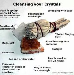 Cleanse your crystals.