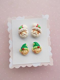 Christmas earrings Kids Earrings Santa earrings Cute