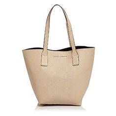 Marc Jacobs Buff And Black Leather Wingman Tote - 25% Off