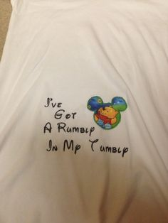 Maternity Shirt with I've got a Rumbly in by StorybookStitches05, $30.00