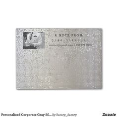 Personalized Corporate Gray Silver Binary IT Manag Post-it® Notes