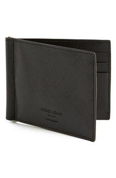 Giorgio Armani Saffiano Leather Money Clip Wallet | Nordstrom Leather Money Clip Wallet, Leather Wallet, Slim Wallet, Lifestyle Photography, Giorgio Armani, Edc, Belts, Wallets, Men's Fashion