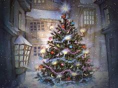 These old fashioned Christmas images just make me so happy. I miss seeing artwork like this.