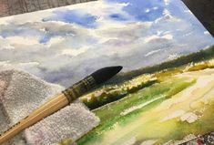 How to Paint Field and Sky Watercolor Painting | The Art 123