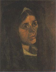 Van Gogh - Bäuerin mit grünem Schal, 1885