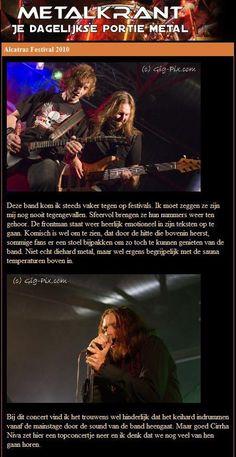 """""""Cirrha Niva puts down a top notch concert."""" NL Metalkrant Alcatraz Review."""