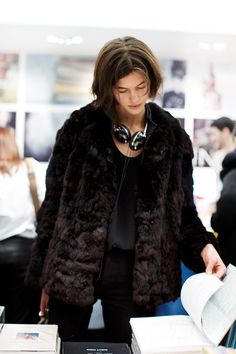 On the Street & Inside Colette, Paris - The Sartorialist | Black fur coat