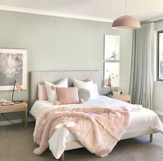 23 Pastel Bedroom for Graceful and Calm Atmosphere in Your Private Space Pastel Bedroom, Bedroom Colors, Home Decor Bedroom, Bedroom Ideas, Bedroom Inspo, Bedroom Scene, Serene Bedroom, Bedroom Styles, Dream Rooms