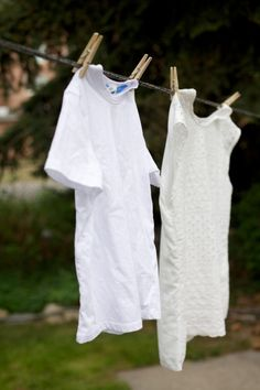 hanging clothes to save energy -  haven't given much thought to this as we don't have a fence, but maybe we should think about it for the future. ..