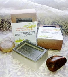 Shea Butter and Bentonite Clay Shaving Soap         by AmykeDesign, $5.00