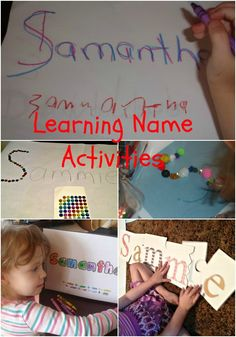 Learning Name Activities - hs language arts Preschool Names, Alphabet Activities, Preschool Kindergarten, Preschool Learning, Literacy Activities, Preschool Activities, Learning To Write, Early Learning, Kids Learning
