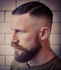 Hairstyles for balding men may sound like a sore subject. Top stylists have already figured out what hairstyles help balding men look their best. Hair And Beard Styles, Short Hair Styles, Bald Haircut, Dapper Haircut, Haircut Men, Haircut Styles, High Fade Haircut, Handlebar Mustache, Slick Hairstyles