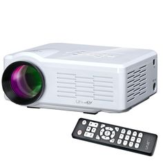[$55.60] Uhappy U35 800LM Home Theater 640*480 Mini Projector with Remote Control, Support HDMI + SD + USB + TV + AV + VGA(White)