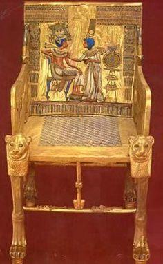 Tutankhamun's Gold Throne.... From his tomb