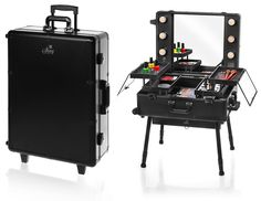 Amazon.com : SHANY Studio To Go Makeup Case with Light - Pro Makeup Station - BLACK : Makeup Train Cases : Beauty