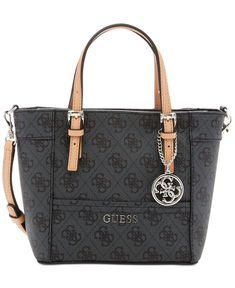 4215a5a39085 GUESS Delaney Petite Tote with Crossbody Strap - Tote Bags - Handbags    Accessories - Macy s