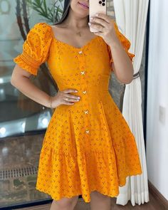 Simple Dresses, Cute Dresses, Casual Dresses, Fashion Dresses, Summer Dresses, Trend Fashion, Homecoming Dresses, Casual Looks, Sleeve Styles