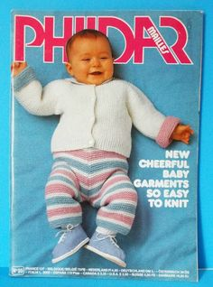 Phildar Knitting Pattern Book Baby Sweaters Tops Booties Outfits Blankets Infant Knits Vol 95 Vintage 1982 Destash