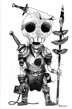 Sam Bosma's little skully dude for Mike Mitchell.  So awesome.